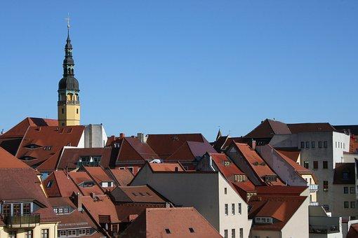 Bautzen, Saxony, City, Roofs, Tower, Building