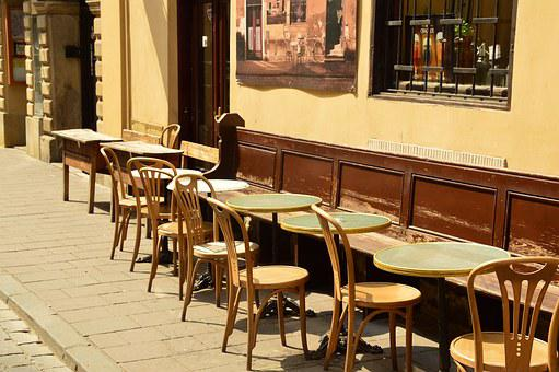 Cafe, Street, Kraków, Bracka, The New Province, Chairs