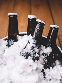 Beer, Bottles, Bucket, Ice, Drinks, Brews