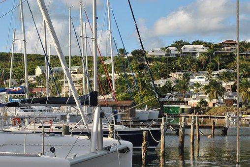 Caribbean, Saint Martin, Oyster Pond Marina, Harbor