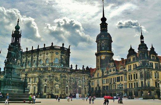 Dresden, Germany, City, Castle, Historic Center, Houses