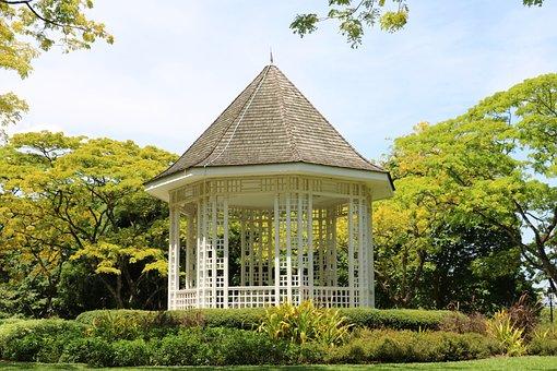 Garden, Gazebo, Green, Construction, Green And Building