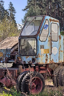 Excavators, Construction Machine, Old, Tooth Of Time