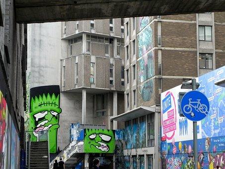 Graffiti, Bristol, England, Frankenstein, Creative