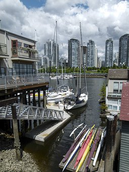 Vancouver, False Creek, Harbor, Port, City, Metropole