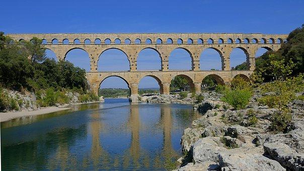 Pont Du Gard, Aqueduct, Roman, France, Heritage