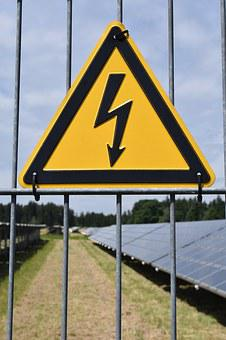 Attention, Current, High Voltage, Risk, Solar
