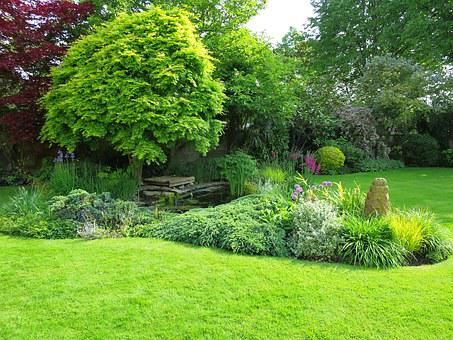 English Garden, Bath In England, Hotel Garden, Green