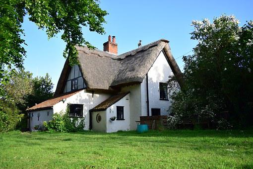 Cottage, Thatched, House, Roof, English, England