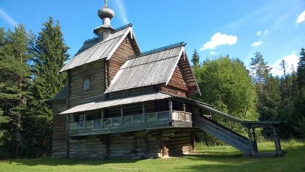 Wooden House, Old House, Log, House In The Woods, Old