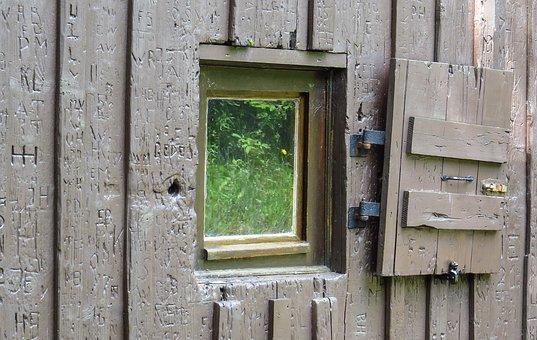 Window, Shutter, Old, Nostalgia, Log Cabin, Hut
