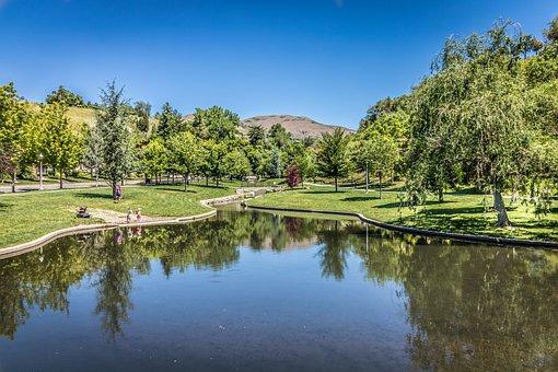 Grove Park Memory, City Salt Lake, Utah, Lake, Park