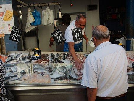 Market, Fish, Fish Market, Marseille, Food, Sea Animals