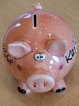 Piggy Bank, Piglet, Savings Bank, Pig, Spar Slot, Money