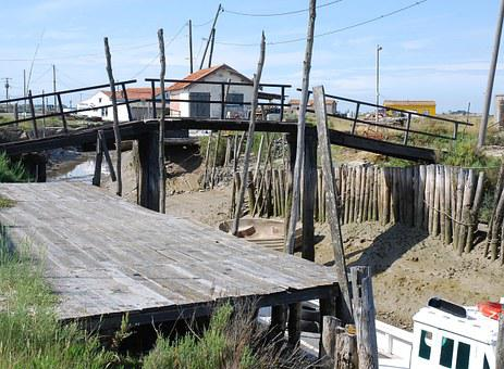 Bridge, Channel, Oyster, Boat, Pontoon