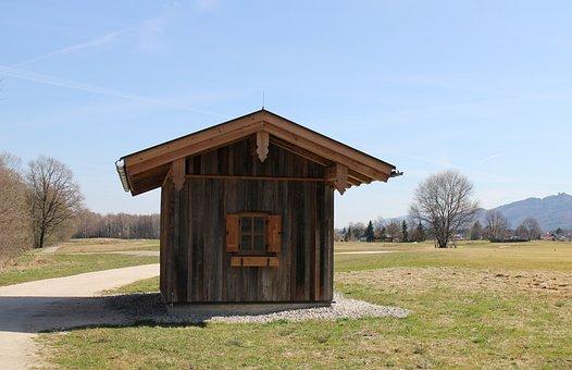 Log Cabin, Hut, Rest House, Rest, Hike