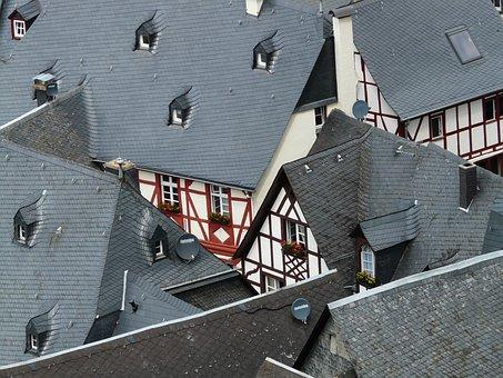 Roofs, Schieferdaecher, Fachwerkhäuser, Truss, Homes