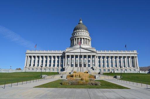 Utah, Salt Lake City, Building, Usa, Capital