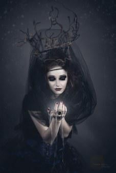 The Witch, Sorceress, Fairy Tales, Woman, Girl, Veil