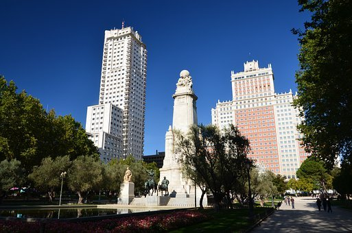 Madrid, Spain, Park, Architecture, Skyline, City