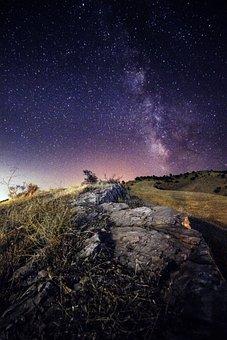 Milkyway, Star, Sky, Space, Universe, Galaxy, Night