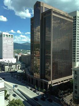 City, Building, Downtown, Tall, Skyscraper, Utah