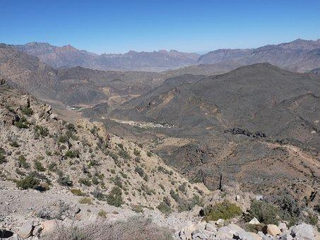 Desert, Dry, Hot, Gorge, Rock Desert, Valley, Outlook