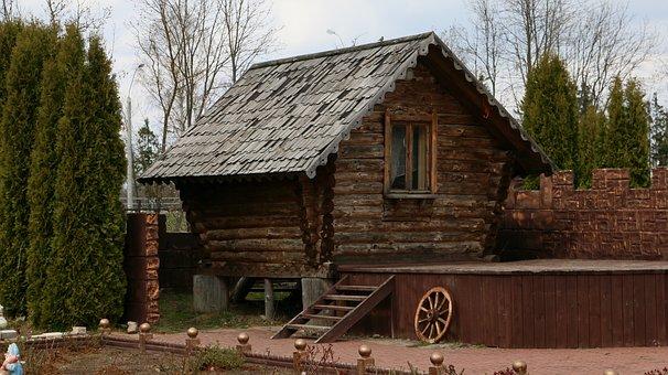 House, Wooden House, Wood, Balance Beam, Old, Village