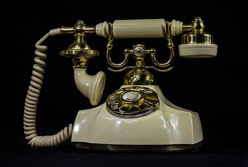 Antique Telephone, Old Phone, Rotary Dial