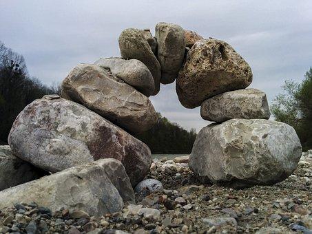 Bridge, Balance, Stones, Arch, Connective, Connection