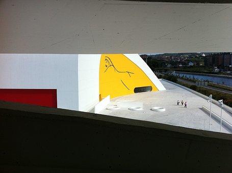 Modern, Niemeyer, Architecture, Spain, Asturias