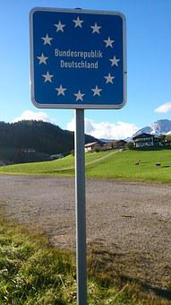 Germany, Border Crossing, Border, Shield, Eu