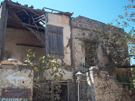 Ruin, Building, Destroyed, Invaded, Facade