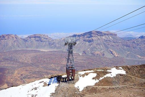 Cableway Masts, Cable Car, Teleférico Del Teide