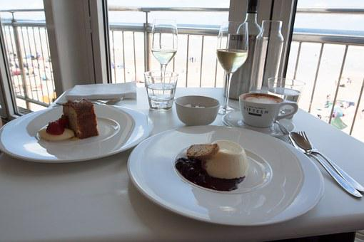 Panna Cotta, Restaurant, Cappuccino, Cup, Coffee, Cafe