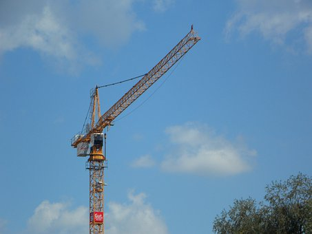 Crane, Sky, Blue, Build, Construction Work, Site