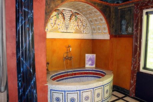 Bath, Art Nouveau, Bathroom, Culture, Ernst Fuchs