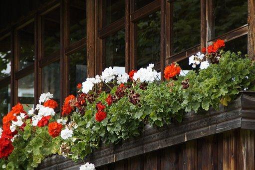 Balcony, Glazed, Old, Farmhouse, Facade, Glasses