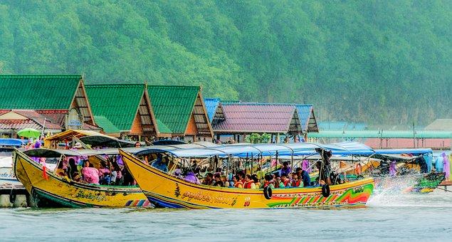 Thailand, Koh Panyee, Floating Fishing Village, Phuket