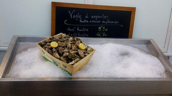 Oysters, Etretat, France, Normandy, Food, Local