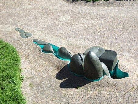 Art, Fountain, Forecourt