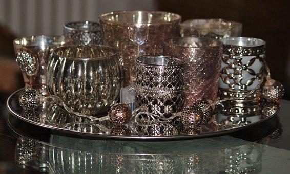 Candles, Tea Light Holder, Glasses, Deco, Mood