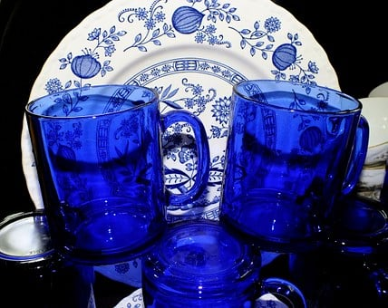 Cobalt Blue, Glasses, Dishes, Home Decor, Sapphire