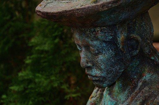 Head, Portrait, Melancholic, Monument, Mood
