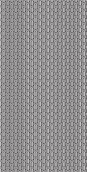 Pattern, Black, White, Tile, Interlocking, Design