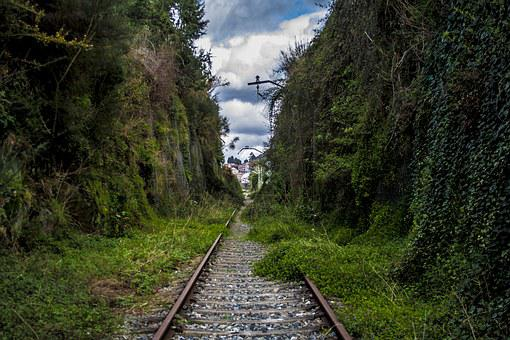 Train Tracks, Invaded, Train, Railway, Rails, Galicia
