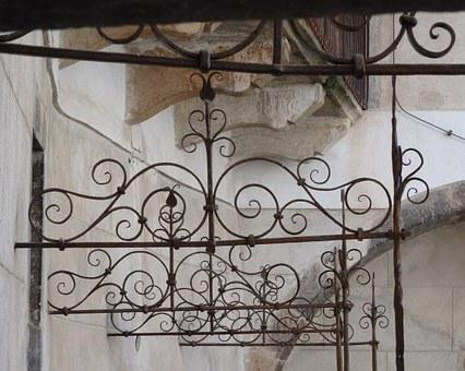 Railing, Wrought Iron, Curlicue, Jewellery, Metal