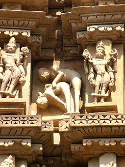 Khajuraho, Kamasutra, India, Monument, Stone