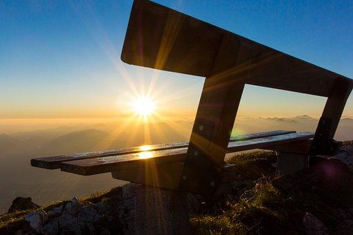 Sunrise, Mountain, Morning, Morgenrot, Outlook