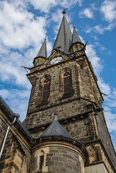 Church, Steeple, Neustadt In Sachsen